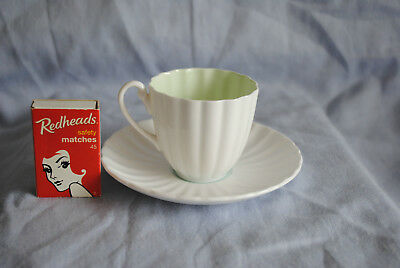 Shelley White Ribbed Ludlow Coffee DemiTasse Duo