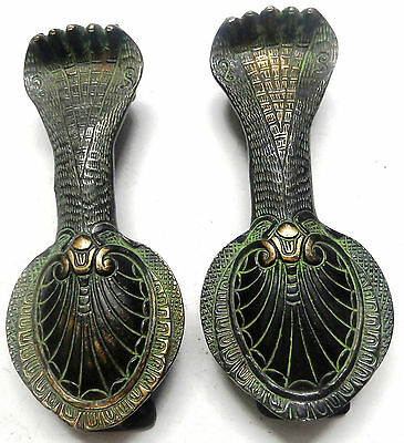 Snake Design Handmade Antique Vintage Style Brass Door Handle/Pull Home Decor
