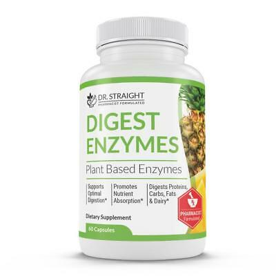 Digest Enzymes Plant Based Dr. Straight Help Digest Protein Fats and Carbs