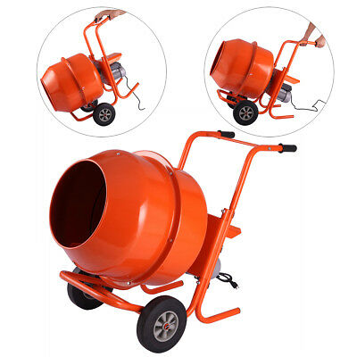 5cuft Concrete Cement Mixer Portable Electric Barrow Machine 1/2HP Mixing mortar