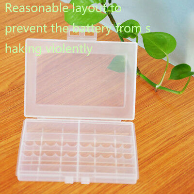 1x Hard Plastic Battery Case Box Holder Storage for 10x AA AAA Batteries CH5E