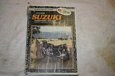 Clymer service manual for Suzuki GS850 fours 1979 and 1980