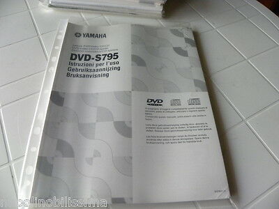 Yamaha DVD-S795 Owner's Manual  Operating Instructions Istruzioni   New