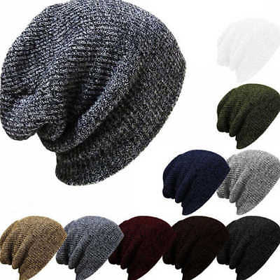 New Men Women Knit Baggy Beanie Winter Hat Ski Slouchy Chic Knitted Cap Skull