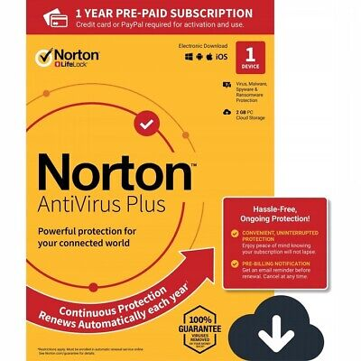 Norton Antivirus Basic 2019 1 Appareil 1 PC 1 an-PC 2018 PC FR EU