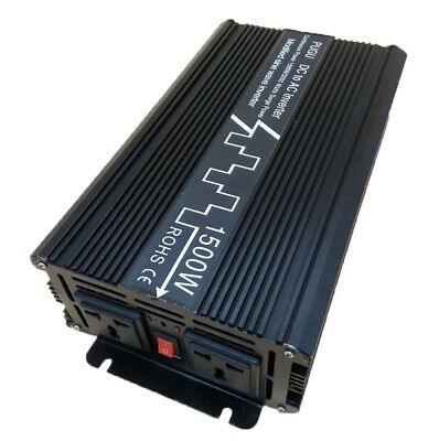 1500W Car Power Inverter Modified Sine Wave 12V/24V DC to 120V/220V AC 50HZ USB
