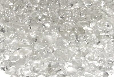 """20 LB Clear Glass Pebbles 1/4"""" for Fireplace ,Firepits and Water Feature"""