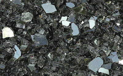 """20 LB Fire Glass Grey Reflective 1/4"""" for Fireplace and Fire Pits"""