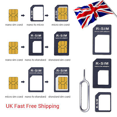 4 In 1 Pack Nano To Micro & Standard SIM Card Adapter For Samsung  iPhone UMI