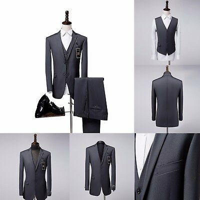 Tuxedo Men 3 Pieces Regular Two Button Formal Suits Tailored Suits Wedding Suits