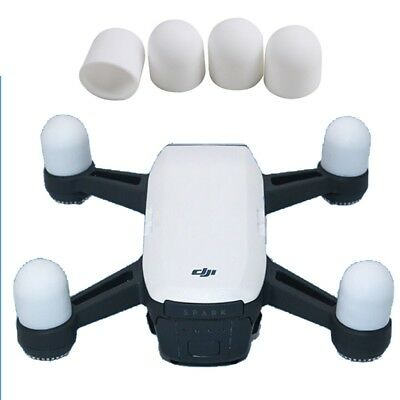 TECH White 4 PCS Silicone Motor Guard Protective Covers for DJI Spark