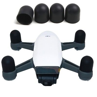 TECH Black 4 PCS Silicone Motor Guard Protective Covers for DJI Spark