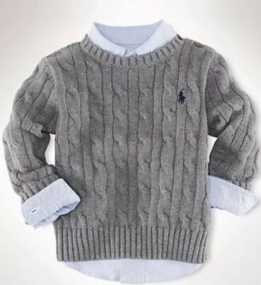 *bnwt Boys Ralph Lauren Cable Knit Jumper Age 6 Months* Rrp £75