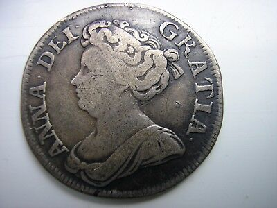 1711 Queen Anne Solid Silver Shilling