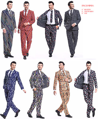 Adult Mens Halloween Suit Stag Do Fancy Dress Party SUITS OUTFIT COSTUME Funny