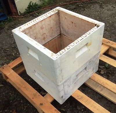 Two National Polystyrene  Beehive Brood Boxes