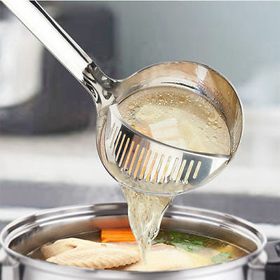 New Stainless Steel Colander Filtration Soup Dregs Creative Hot Pot Spoon 1803