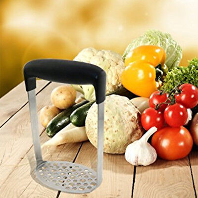 Stainless Steel Potato Masher Press for Smooth Mashed Vegetables and Fruits