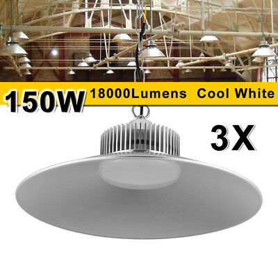 3X 150W LED High Bay Lighting Commercial Warehouse Industrial Factory Shed Lamp