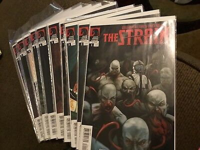 The Strain Comic Books 1-10, new, 2011- 2013