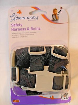 Dreambaby Safety Harness & Reins-Black