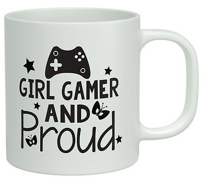 Girl Gamer and Proud White 10oz Video Games Gaming Birthday Novelty Gift Mug