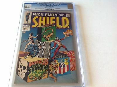 Nick Fury Agent Of Shield 1 Cgc 8.0 Great Steranko Art Marvel 1968 Free Shipping
