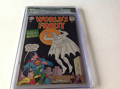 Worlds Finest Comics 139 Cgc 9.0 Ghost Batman Cover Dc 1964 Free Shipping