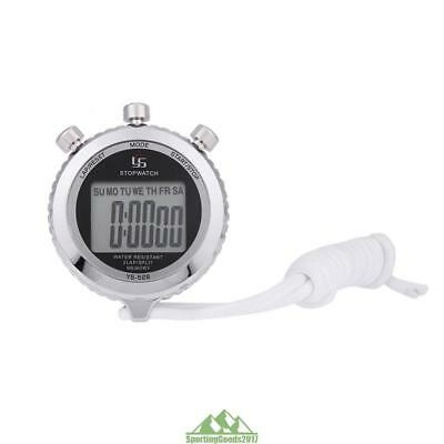 Pro Waterproof LCD Digital Chronograph Timer Counter Sports Stopwatch Stop Watch