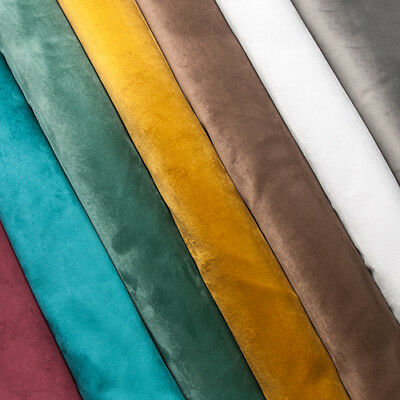 Swatches Luxury Super Soft Touch Velvet Upholstery Fabric Material By the Metre