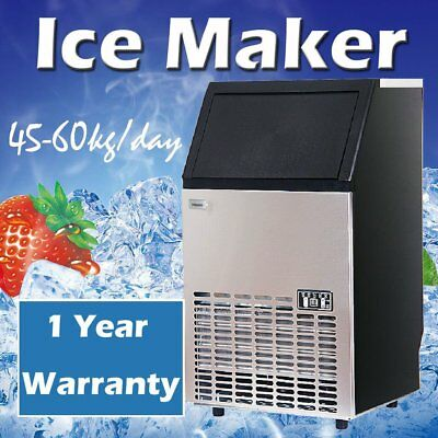 Stainless Steel Commercial 110Lbs Undercounter Ice Maker Machine Air Cooled YT