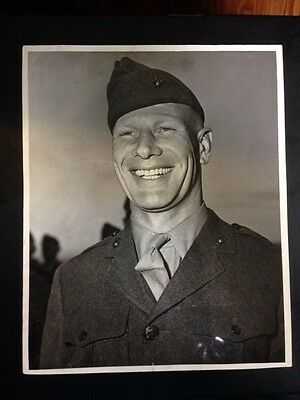 Bill Veeck Original US Marine Corps Official Photo Dated 1944 Incredibly Rare!