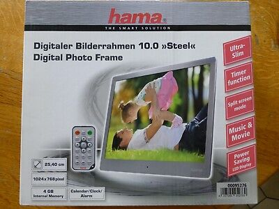 Hama Digitaler Bilderrahmen 10.0 'Steel'