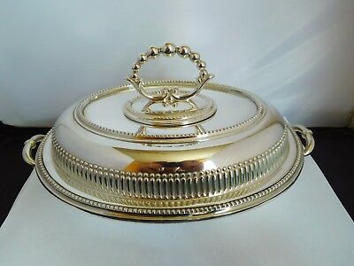 Lovely Quality Domed Entree Dish - Roberts & Belk
