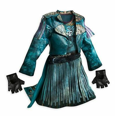 *RARE* Disney Store Uma Costume Girls Age 7-8 Descendants 2 Fancy dress Mal Evie