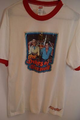 Vintage Dukes of Hazzard Ringer T-Shirt Large General Lee Flag MADE IN USA