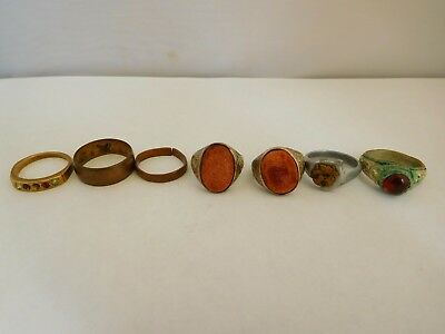 Small Job Lot Of Metal Detecting Finds - Rings