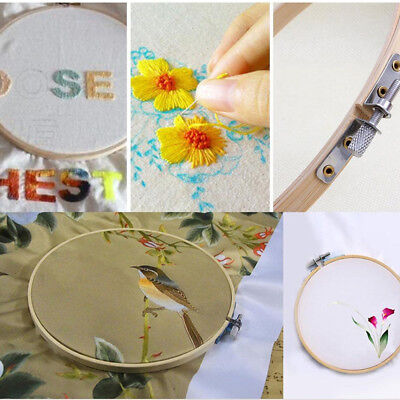 13/15/17/20cm Bamboo Wooden Cross Stitch Embroidery Hoop Ring Craft DIY Tool