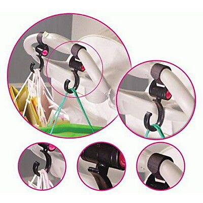 Happy Pram Clips Hooks 2 in a Pack stroller Pushchair Hooks Stroller CliYT