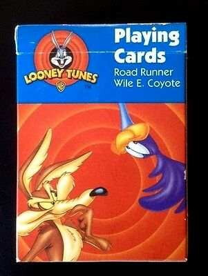Vintage 1997  Looney Tunes Warner Bros. Wile E Coyote/Road Runner Playing Cards