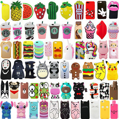 Hot 3D Cute Cartoon Fashion Soft Silicone Case Cover For iPhone 8 8Plus X XS Max