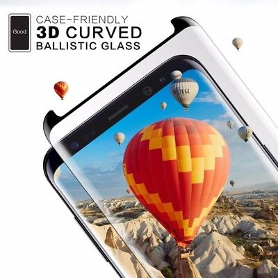 3D Curved Case-friendly Tempered Glass Samsung Galaxy Note9,S9,S8,Note8,S7 Edge