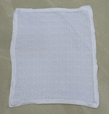 Htf Kissy Kissy Baby Blanket Blue Crochet/Knit
