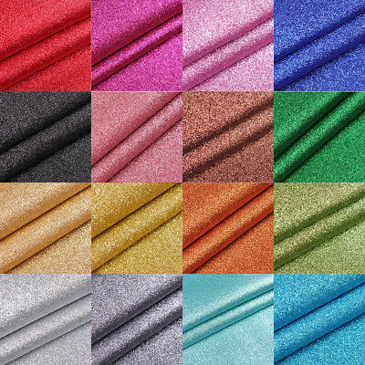 Chunky Glitter Fabric A4 Or A5 Sheets In Plain Colours For DIY Crafts Hair Bows