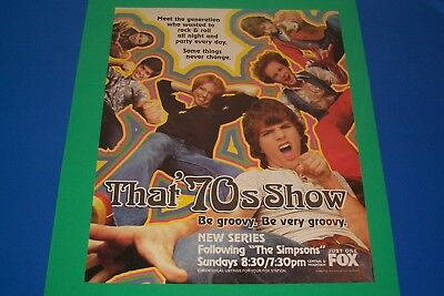 That '70s Show ! New Series Magazine Ad for The Show ! 1998, Be Groovy ! Rare !