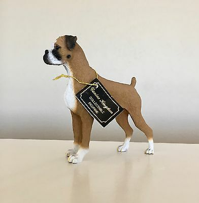 BOXER Dog HAND PAINTED FIGURINE Resin Statue Collectible UNCROPPED