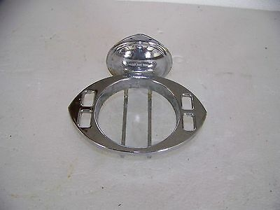 Vintage Mid Century Chrome Toothbrush Tumbler Cup Holder Wall Mount