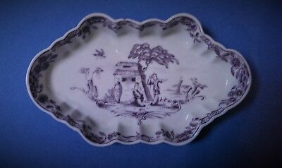 Antique Dr Wall First Period Worcester Porcelain Spoon Tray English c1760