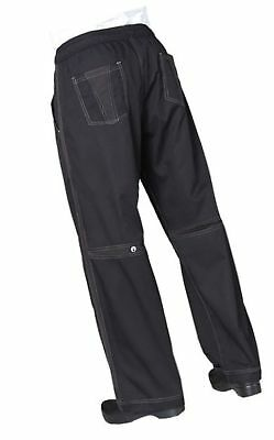 Chef Works Men's Cool Vent Baggy Chef Pant (CVBP) Black M