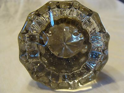 Antique Vintage 12 Point Clear Glass Door Knob Steampunk Victorian Sun Catcher